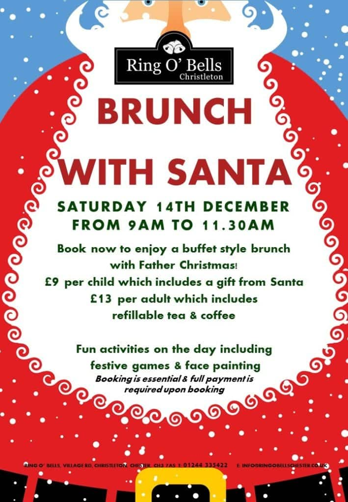 Brunch with Santa at The Ring O'Bells Chester
