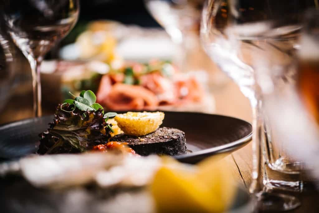 The Yard Fine Dining Chester Black Pudding Italian Fine Dining