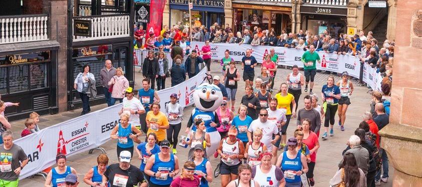 essar chester half marathon city centre route