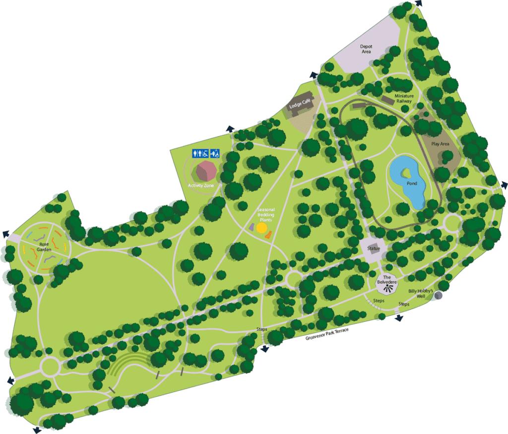 grosvenor park chester map