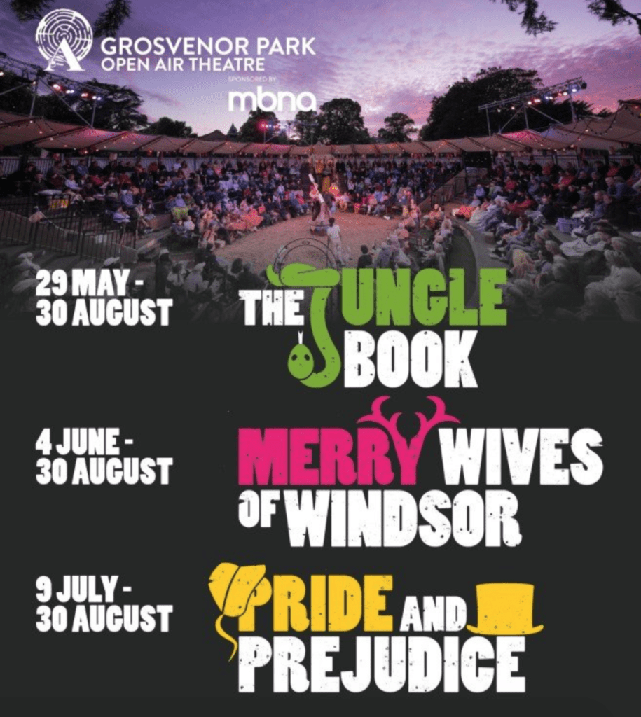 Grosvenor Park Open Air Theatre Schedule 2021