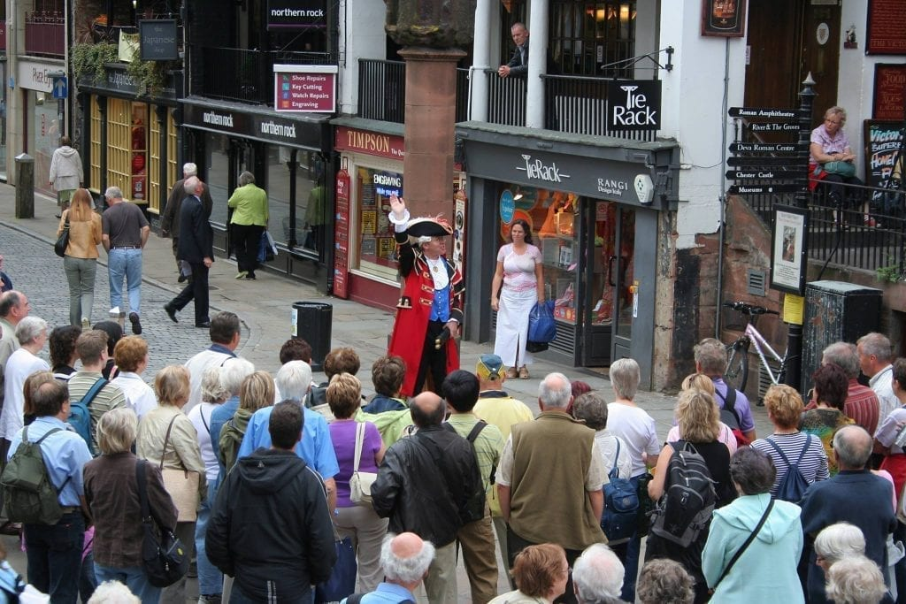 Chester Town Crier at Chester Cross