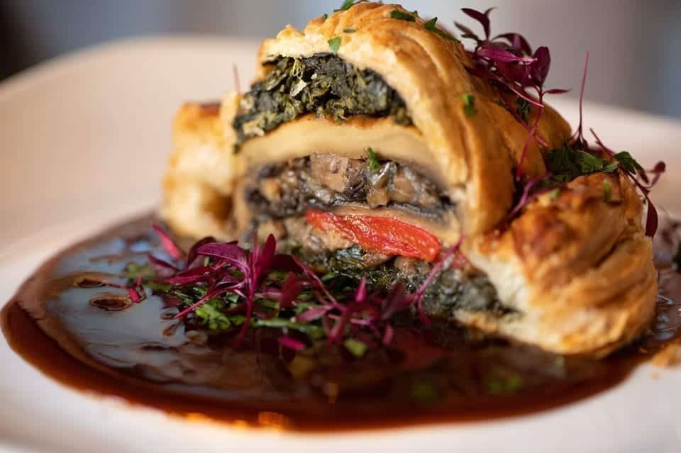 Mushroom Wellington Sunday Lunch at The Suburbs