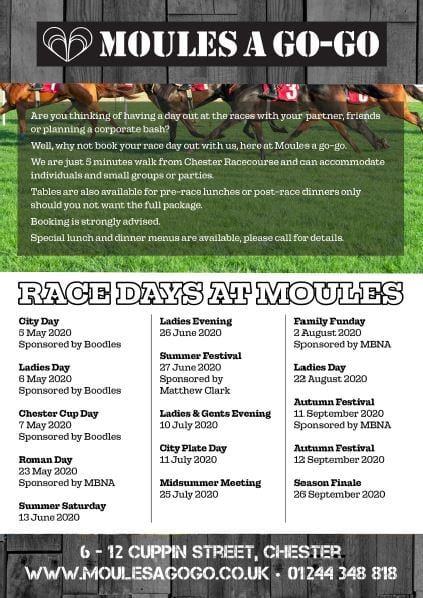 Chester-Race-Day-Offers-at-Moules a Go-Go Bar and Bistro