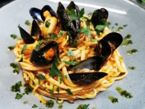Moules a go go bar and bistro Mussels and linguine