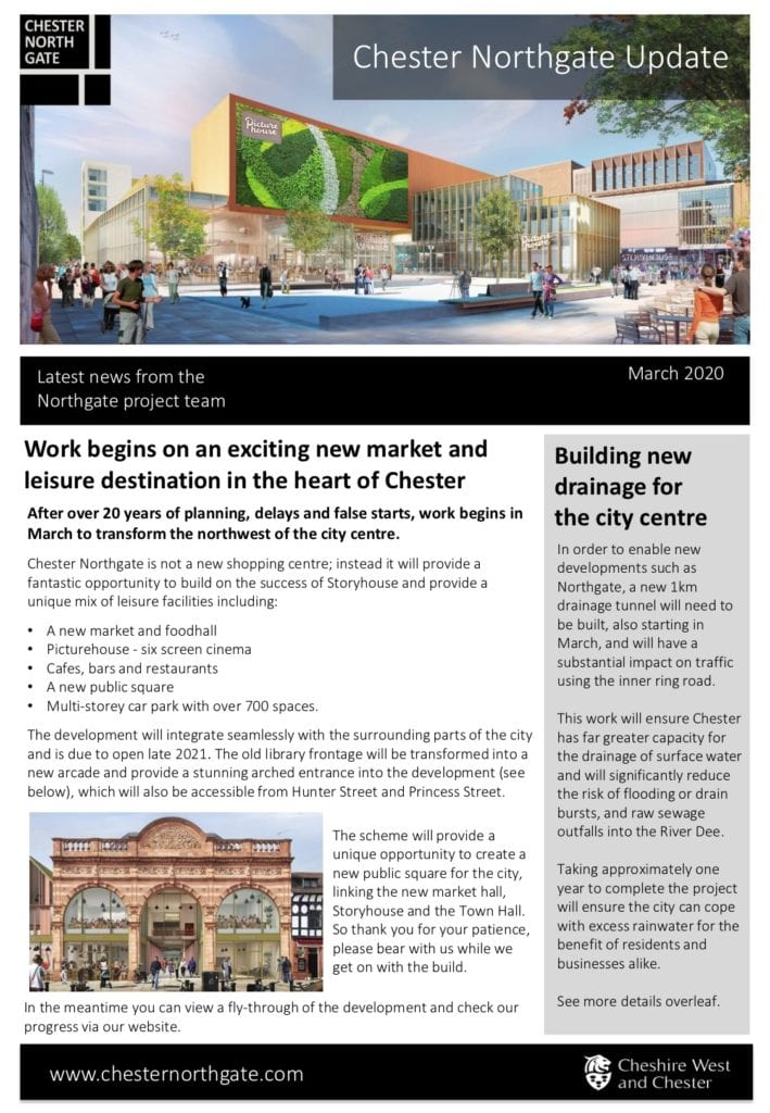 Chester Northgate Development Newsletter March 2020