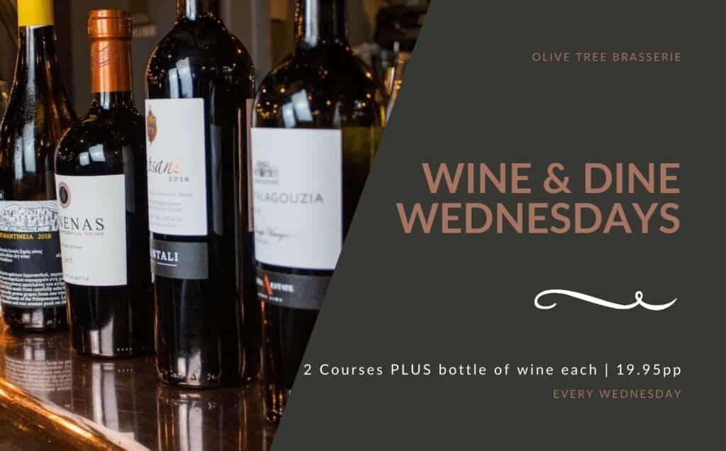 Olive Tree Brasserie Wine And Dine Wednesdays