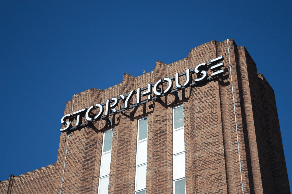 Chester.com Storyhouse Sign
