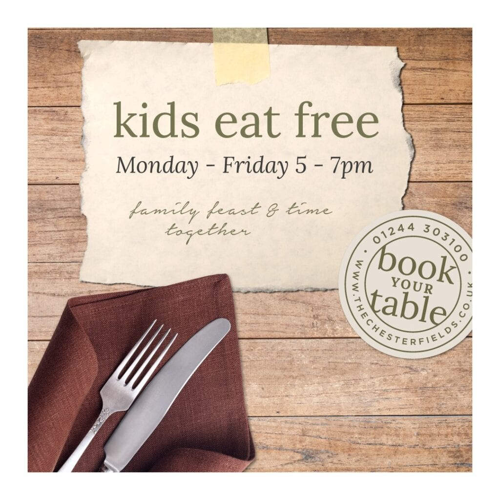 The Chester Fields Country Pub Restaurant And Wedding Venue Kids Eat Free