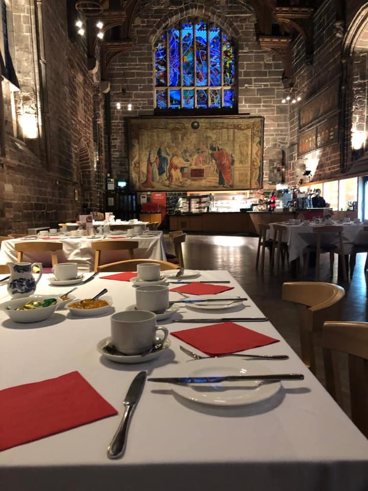 Chester Cathedral Refectory Breakfast