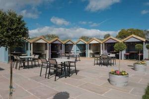 Wild Goose Lakeside Bar And Restaurant Beach Huts Al Fresco Dining
