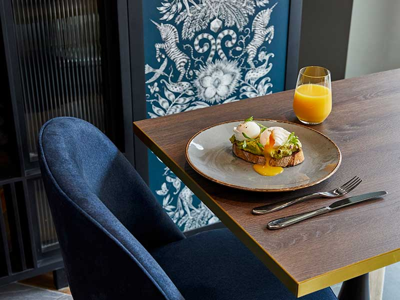 hotel indigo chester breakfast avocado on toast