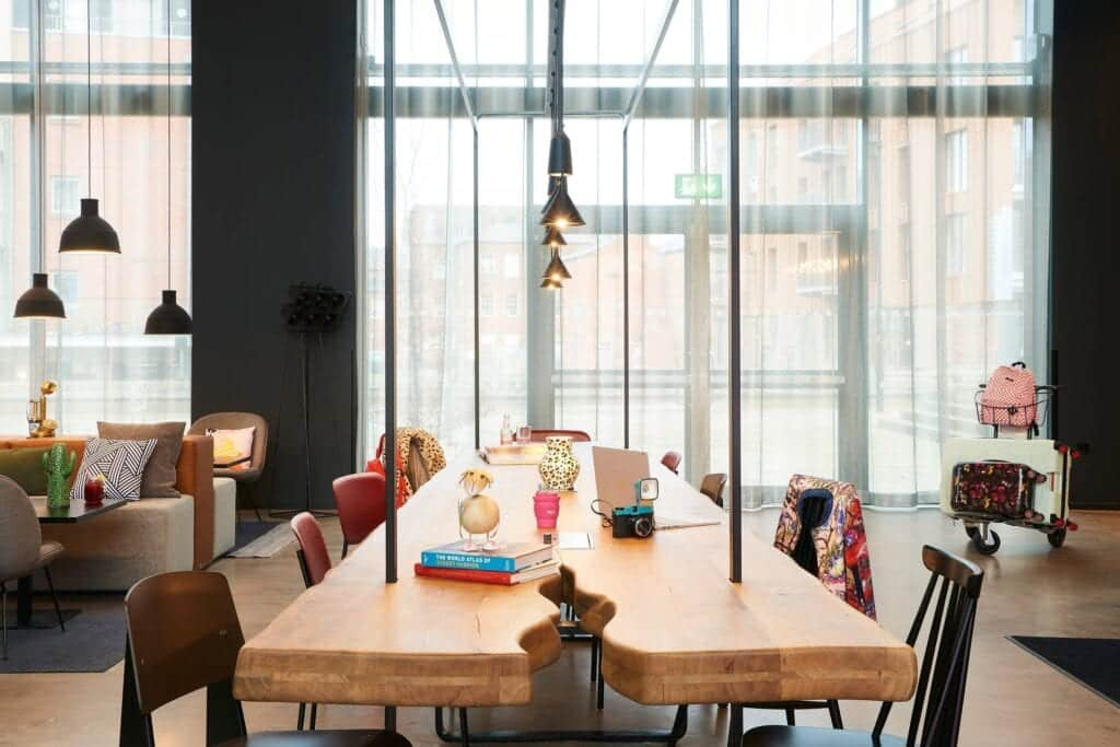 moxy chester communal workspace