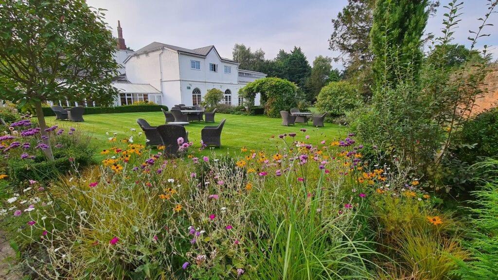 rowton hall hotel spa chester garden terrace