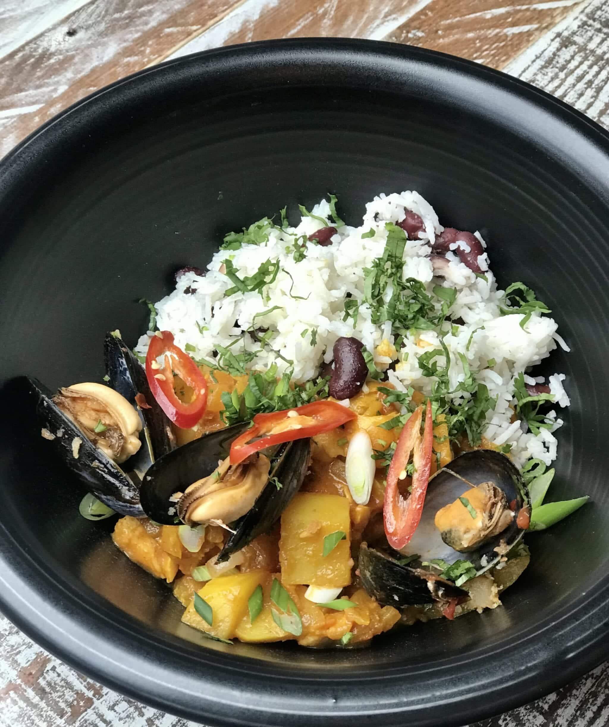 the suburbs mild fish curry.
