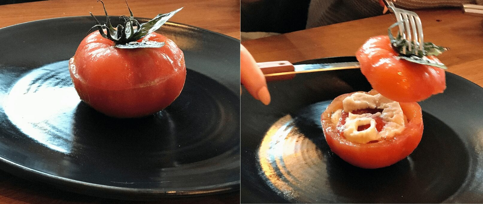 the yard pomodoro ripieno di formaggio