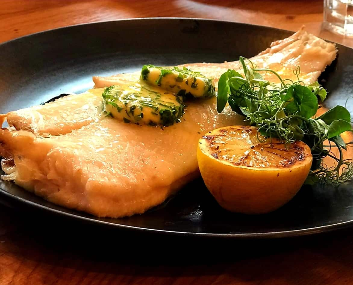 the yard whole torbay sole with lemon butter