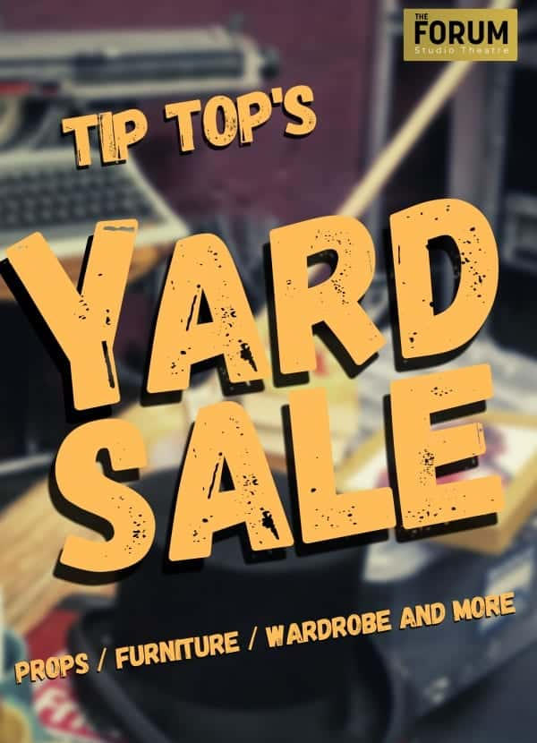tip top productions yard sale