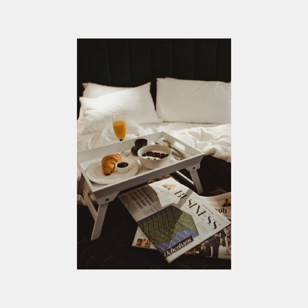 ch1 boutique stays chester breakfast in bed