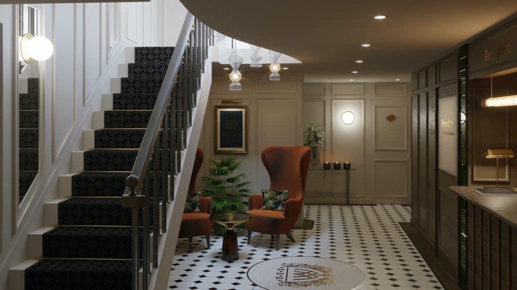 wildes hotel lobby visual