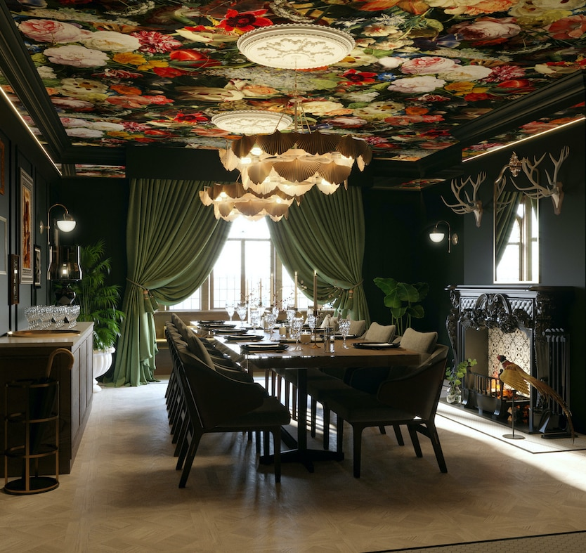 wildes hotel private dining room visual